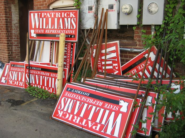 No Slogans on These Campaign Yard Signs