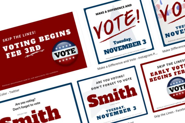 Online Candidate Now Offering Political Canva Templates