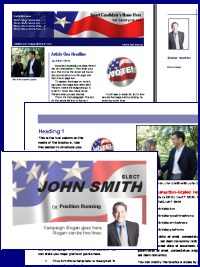 Online Candidate Now Offering Political Brochure Templates - Political campaign brochure template