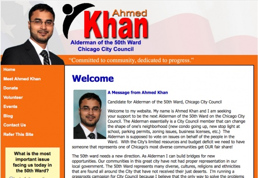 Ahmed Khan, Candidate for Alderman of the 50th Ward Chicago