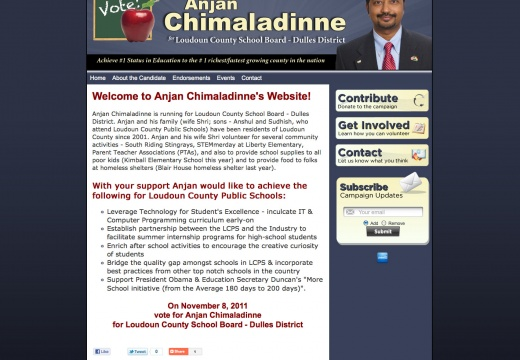 Anjan Chimaladinne for Loudoun County School Board