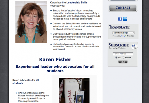 Karen Fisher for Cherry Creek Schools Board of Education