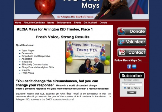 Kecia Mays for Arlington ISD Trustee - Place 1