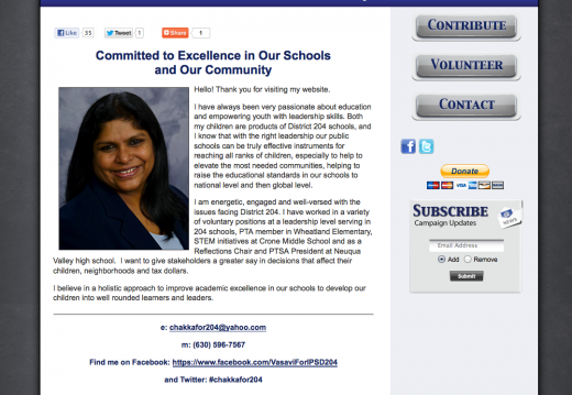 Vasavi Chakka For School Board