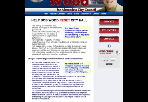 Bob Wood for Alexandria City Council