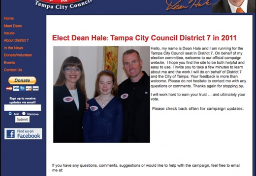 Dean Hale - Tampa City Council Election