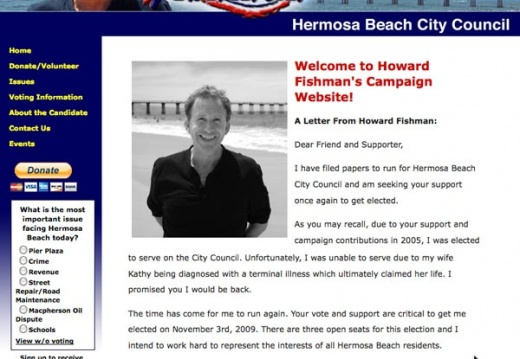 Howard Fishman - Hermosa Beach City Council Election