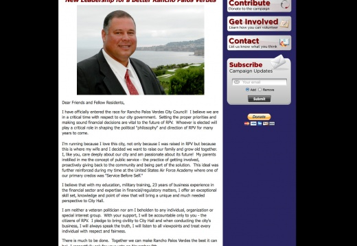 Jerry Duhovic for Rancho Palos Verdes City Council