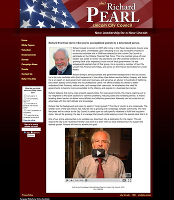 Richard Pear for Lincoln City Council Campaign Website