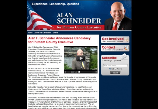 Alan Schneider for Putnam Countuy Executive