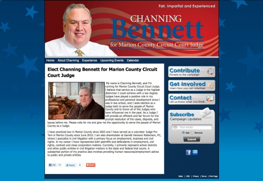 Channing Bennett for Marion County Circuit Court Judge
