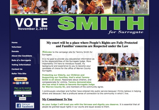 Tammy Smith for Surrogate Court Judge Campaign Website