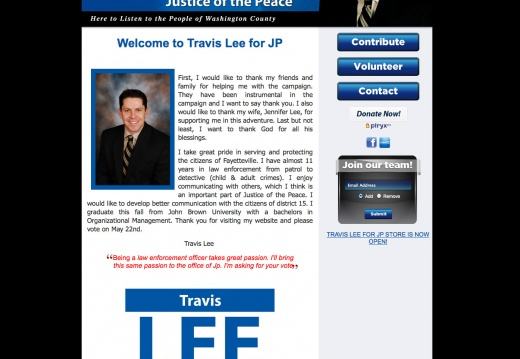 Travis Lee for Justice of the Peace