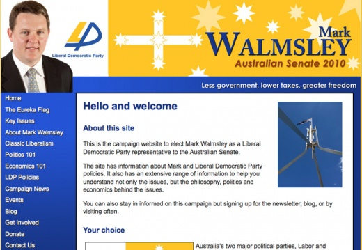 Mark Walmsley - Australian Senate Election