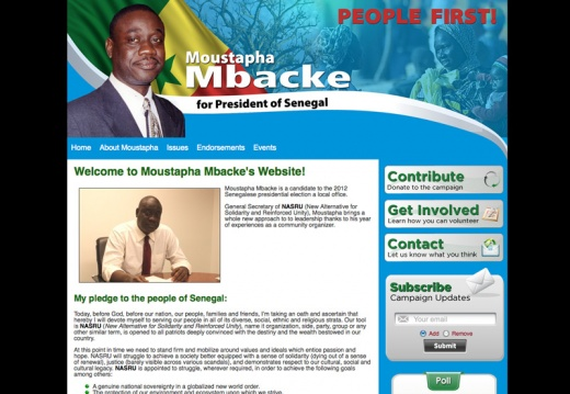 Moustapha Mbacke for President of Senegal