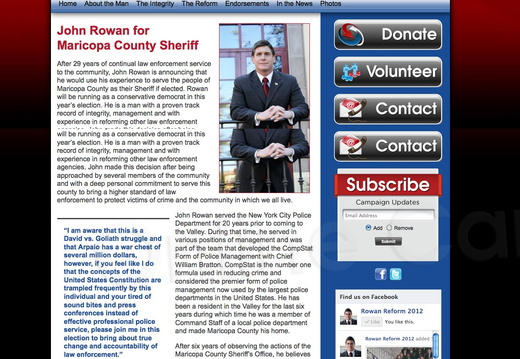 John Rowan for Maricopa County Sherriff