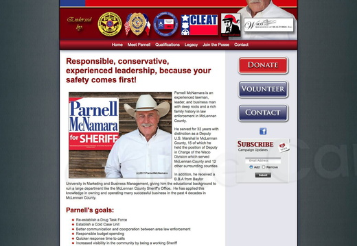 Parnell McNamara for Sheriff
