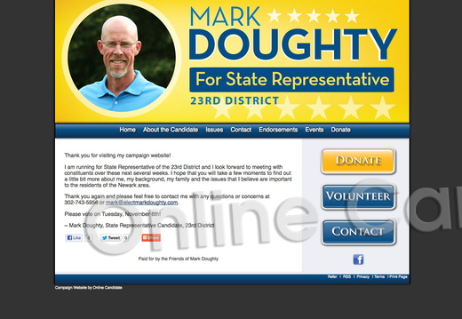 Mark Doughty for Delaware State Representative, 23rd District