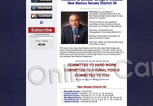 Senator Griego for New Mexico Senate District 39