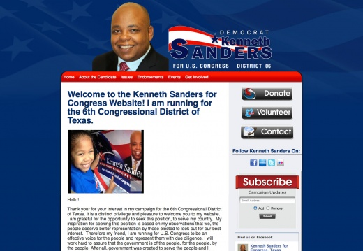 Kenneth Sanders for Congress - 6th District of Texas