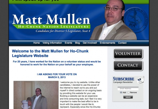 Matt Mullen for Ho-Chunk Legislature