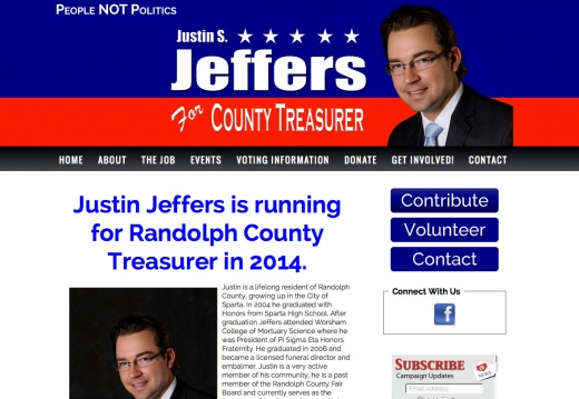 Justin Jeffers for Randolph County Treasurer