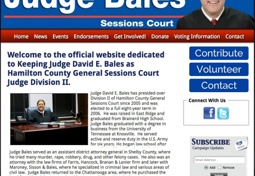 Judge David E. Bales as Hamilton County General Sessions Court Judge - Division II