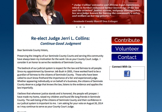 Re elect Judge Jerri L Collins