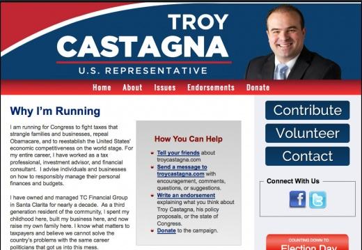 Troy Castagna for Congres California 25th District