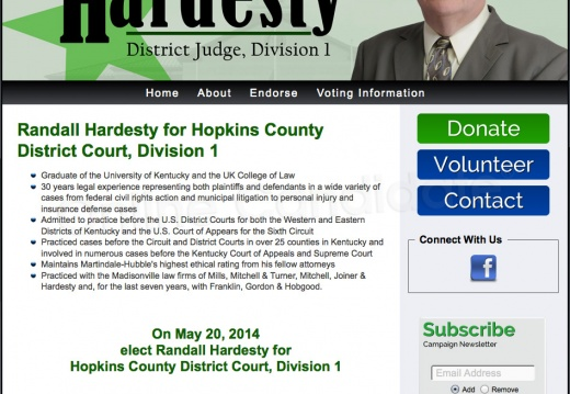 Randall Hardesty for Hopkins County District Court, Division 1