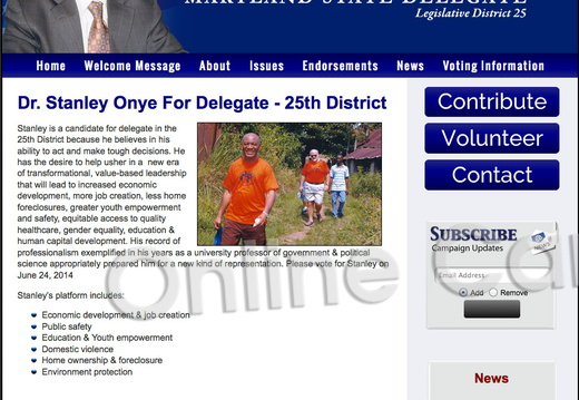 Dr Stanley Onye For Delegate  - 25th District