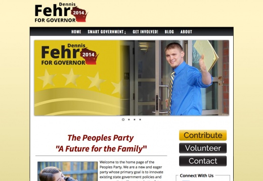 Dennis Fehr for Wisconsin Governor