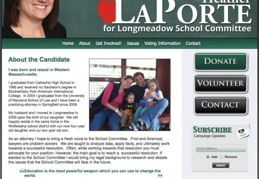 Heather LaPorte for Longmeadow School Committee