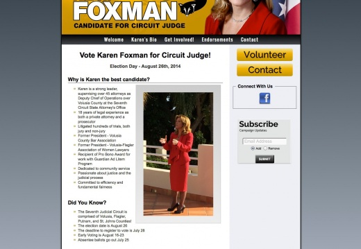 Karen Foxman for Circuit Court Judge