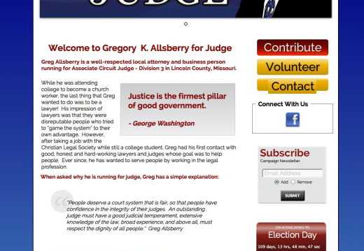 Greg Allsberry for Associate Circuit Judge