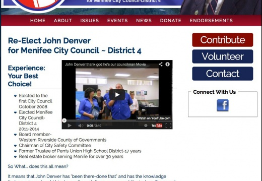 John Denver for Menifee City Council   District 4