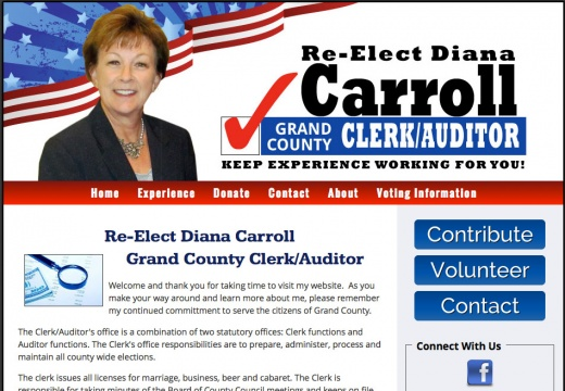 Re-Elect Diana Carroll Grand County Clerk Auditor