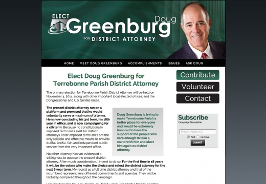 Doug Greenburg for Terrebonne Parish District Attorney