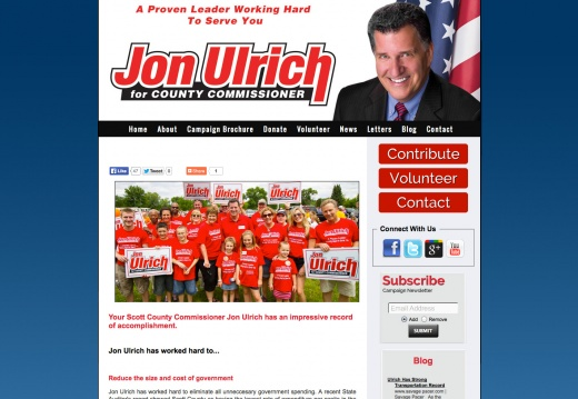 Jon Ulrich, Scott County Commissioner