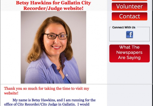 Betsy Hawkins for Gallatin City Recorder