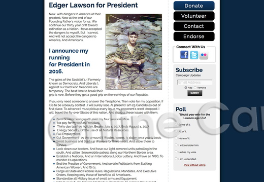 Edger Lawson for President