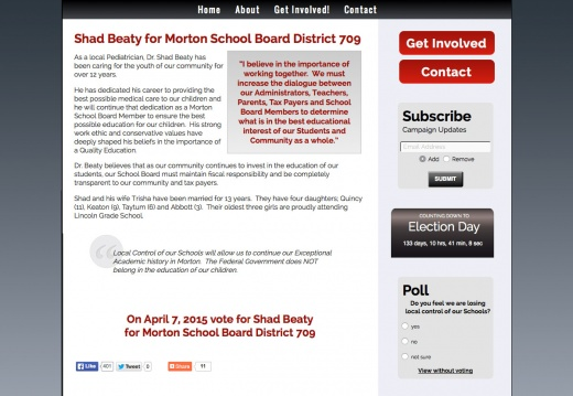 Shad Beaty for Morton School Board District 709