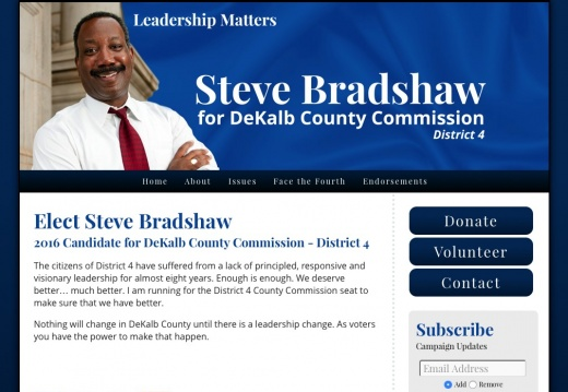 Steve Bradshaw for DeKalb County Commission - District 4