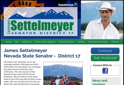 James Settelmeyer Nevada State Senator -  District 17