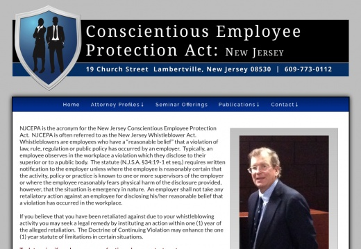 New Jersey Conscientious Employee Protection Act Attorneys