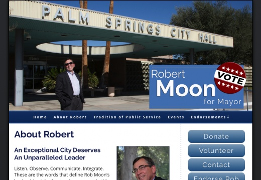 Robert Moon For Mayor of Palm Springs
