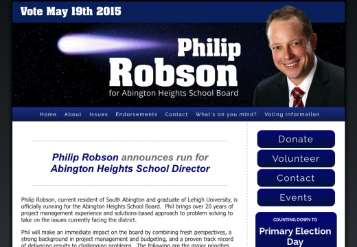 Philip Robson for Abington Heights School Director