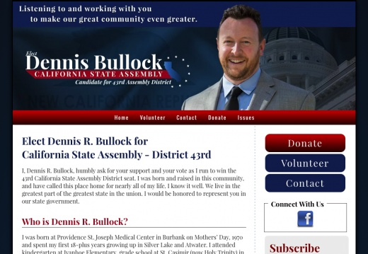 Dennis R. Bullock for California State Assembly - District 43rd