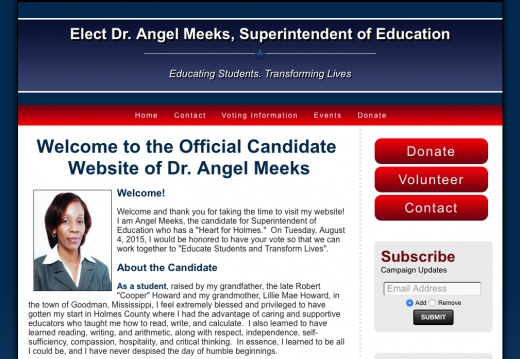 Elect Dr. Angel Meeks, Superintendent of Education
