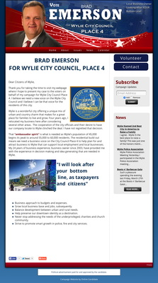 Brad Emerson for Wylie City Council, Place 4